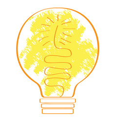 conceptual idea lightbulb vector image
