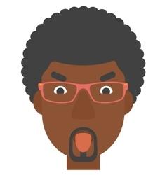 Contemptuous man sticking out his tongue vector image