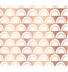 copper foil doodle arcs abstract pattern vector image