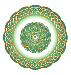 decorative porcelain plate for table asset in vector image