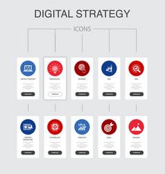Digital strategy infographic 10 steps ui design vector