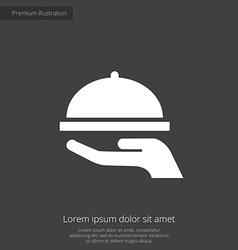Dish premium icon vector