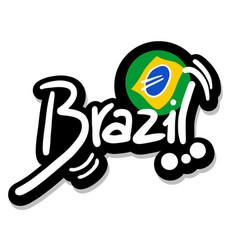 Emblem brazil vector