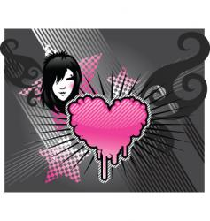emo background vector image