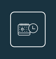 Events calendar icon line symbol premium quality vector
