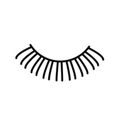 eyelashes line icon sign on vector image