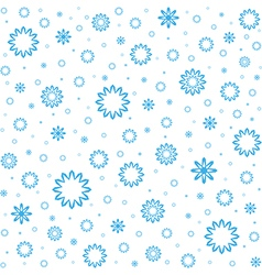 Falling snow Snowfall vector image