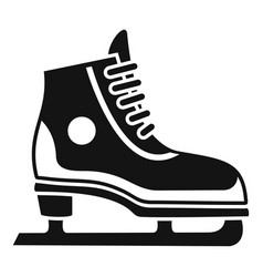 figure ice skate icon simple style vector image