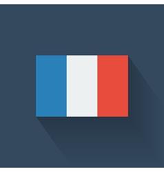 Flat flag of France vector image
