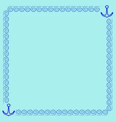 Frame blue 3 2010 vector