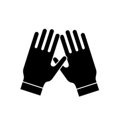 garden gloves icon black vector image