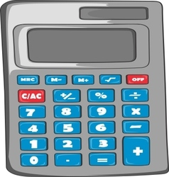 Gray Calculator vector