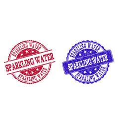 Grunge scratched sparkling water stamp seals vector