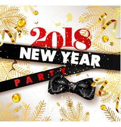 happy new year invitation template or poster vector image