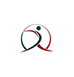 Human move care creative modern logo vector