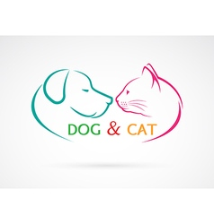 Image an dog and cat vector