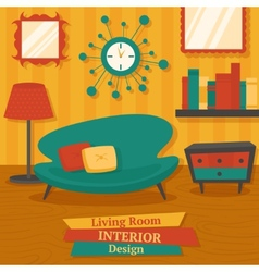 Interior design sofa vector