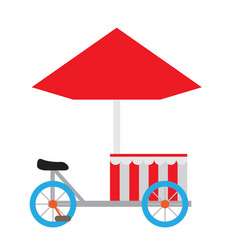 isolated carnival mobile tent vector image