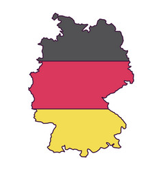 isolated map of germany design vector image