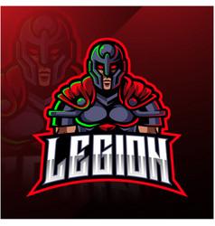 Legion warrior mascot logo design vector