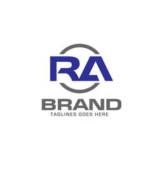 Letter ra logo design vector