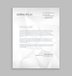 letterhead design in paper style vector image