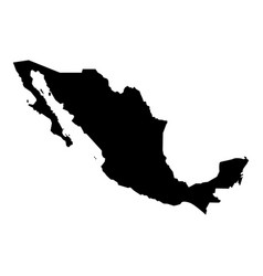Map of mexico icon black color flat style simple vector