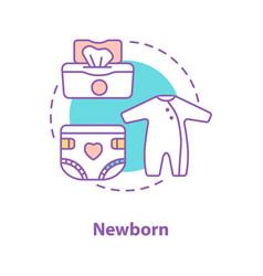 Newborn baby concept icon vector