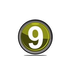 nine logo design template vector image