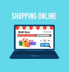 online store shopping online e-commerce shopping vector image