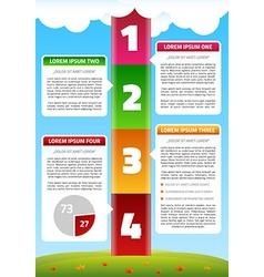 Playful timeline infographics vector