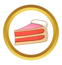 Pumpkin pie slice icon vector