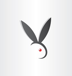 Rabbit easter egg icon abstract simple design vector
