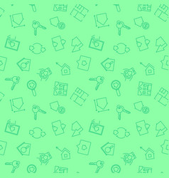 real estate green pattern seamless vector image