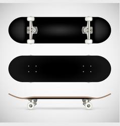 Realistic skateboard template vector
