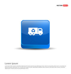 recycle icon - 3d blue button vector image