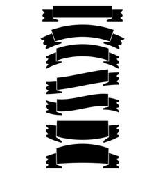 ribbon banner iconflat design vector image