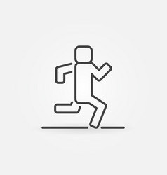 running outline icon vector image