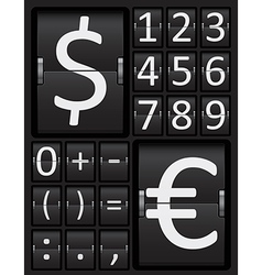Scoreboard Mechanical Panel - Numbers vector image