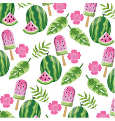 Seamless floral pattern cartoon vector