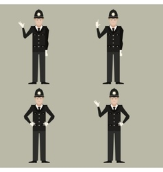 set british police men vector image