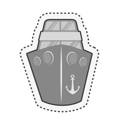 Ship boat cruise isolated icon vector