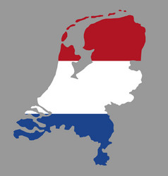 Silhouette country borders map of netherlands on vector