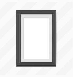 single black photo frame vector image