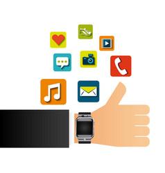 Smart watch design vector