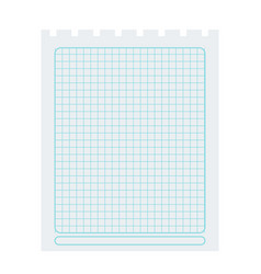 square spiral notepad sheet element vector image