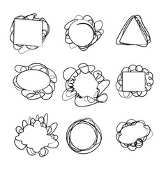 stickers drawn in pencil vector image