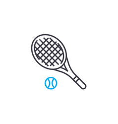 tennis linear icon concept tennis line vector image