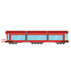 Train rail wagon transport vector