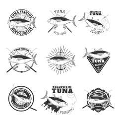 Tuna fishing Design elements for fishing team vector